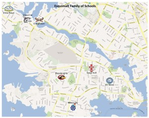 Esquimalt Family of Schools Map
